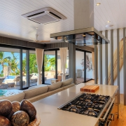 The BeacHouse Vomo - View from Kitchen - Fiji Luxury Holiday Home