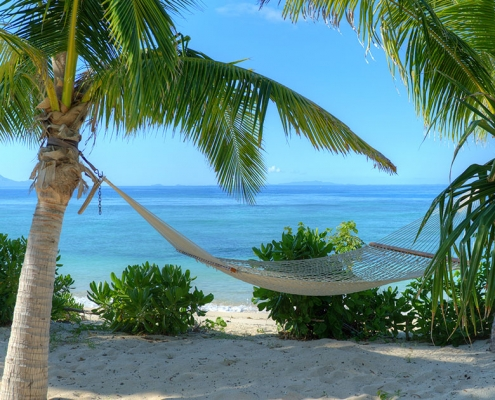The BeacHouse Vomo - Beachfront Hammock - Fiji Luxury Holiday Home