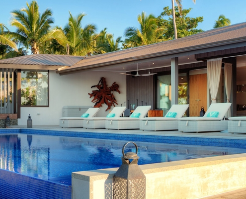 The BeacHouse Vomo - External Pool Area - Luxury Fiji Holiday Homes