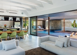 The Palms Vomo - Internal of Lounge and Dining - Fiji Luxury Holiday Homes