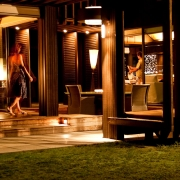 The Residence Vomo - External Night - Fiji Luxury Holiday Homes