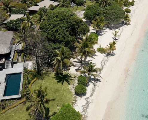 The Royal - Vomo - Aerial - Luxury Fiji Holiday Home