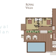 The Royal Vomo - Floor Plan - Luxury Fiji Holiday Hom