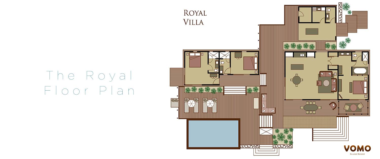 The Royal Vomo - Floor Plan - Luxury Fiji Holiday Hom