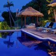The Royal - Vomo - Pool at Night - Luxury Fiji Holiday Home