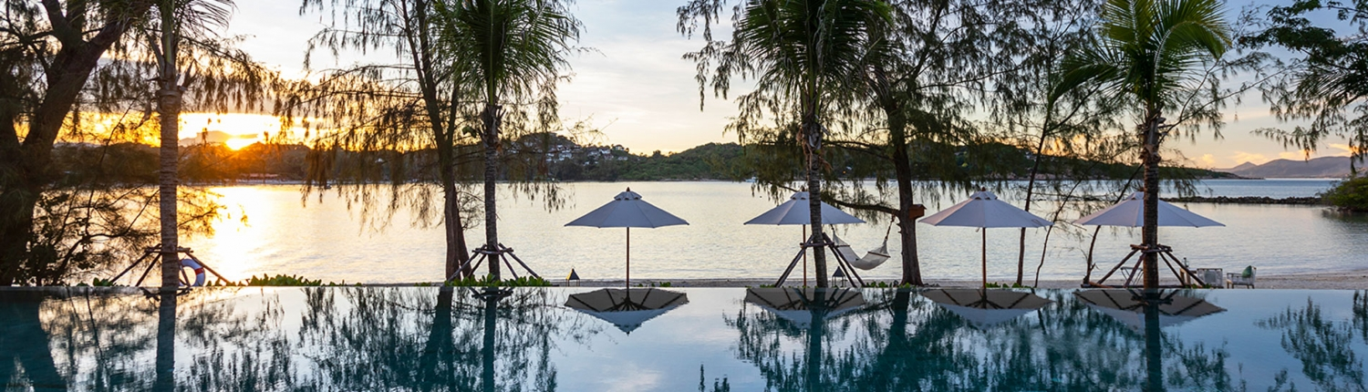 Cape Fahn Hotel - Pool at Sunset - Thailand Luxury Island Escapes