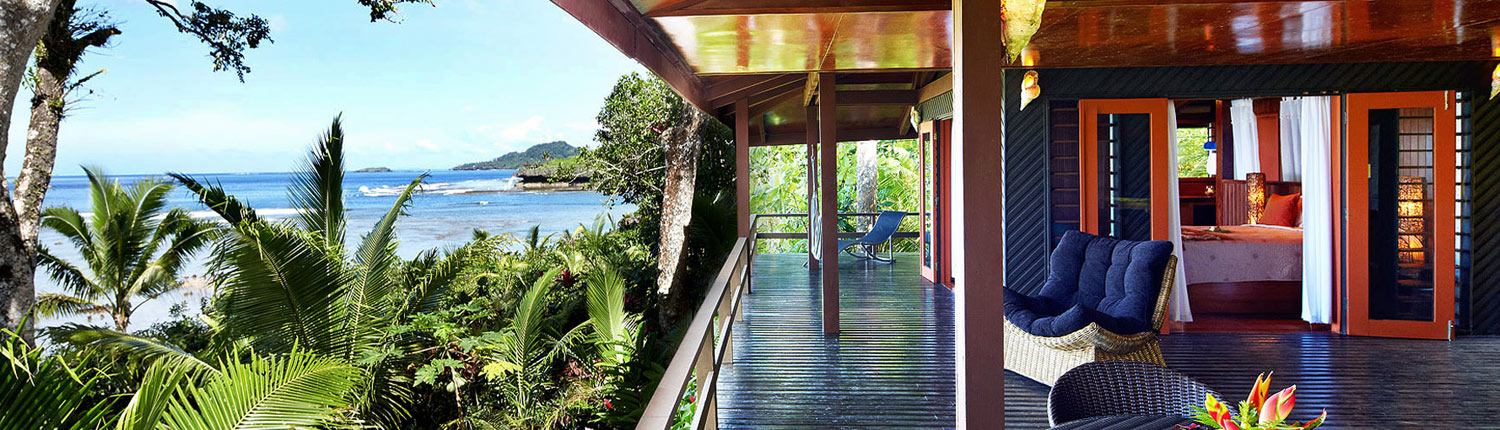 Savasi Island Resort, Fiji - Beach House Views