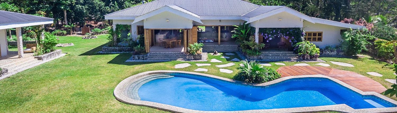 Exterior Aerial of Pool - Nakatumble Luxury Eco Villa - Vanuatu Holiday Homes