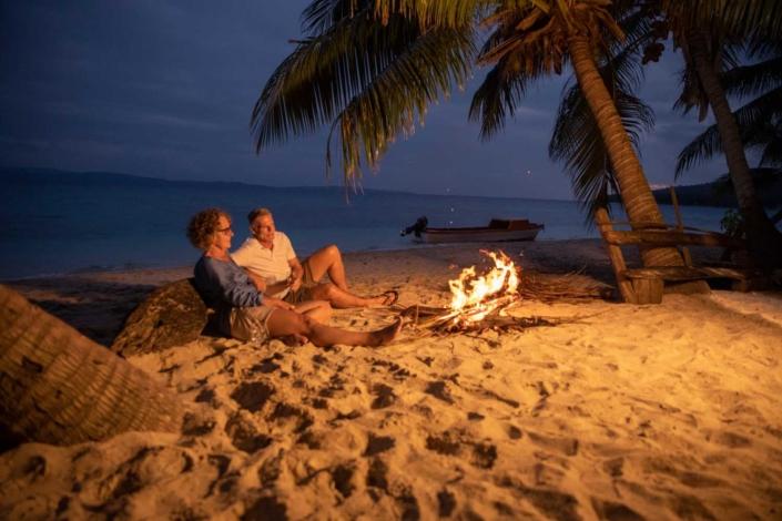 Pele - Campfire on Pele Island