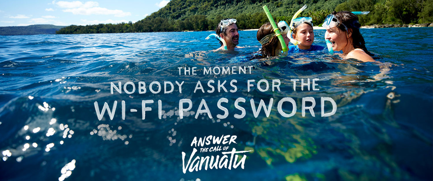 Vanuatu Family Holidays - Family Snorkelling - The moment nobody asks for the Wi Fi Password