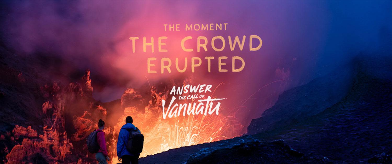Vanuatu Adventure Holidays - Mt Tanna Volcano - The Moment the Crowd Erupted
