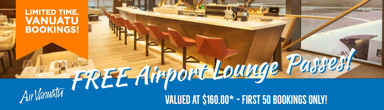 Air Vanuatu Free Lounge Passes in MLB SYD and BNE