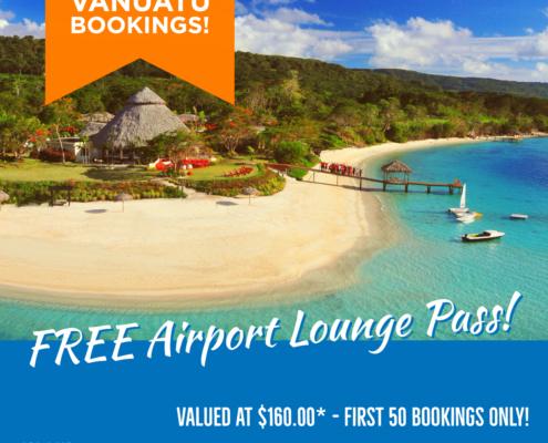 Vanuatu Holidays - FREE Airport Lounge Passes