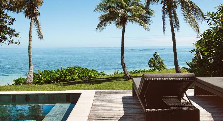Beachfront Pool Bure with view overlooking ocean and beach - Tokoriki island Fiji