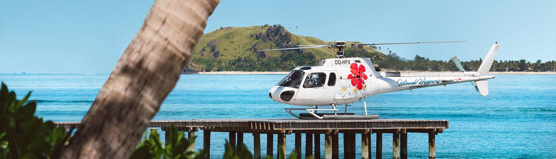 Tokoriki Island Fiji - Helicopter Transfers to The Island with Island Hoppers